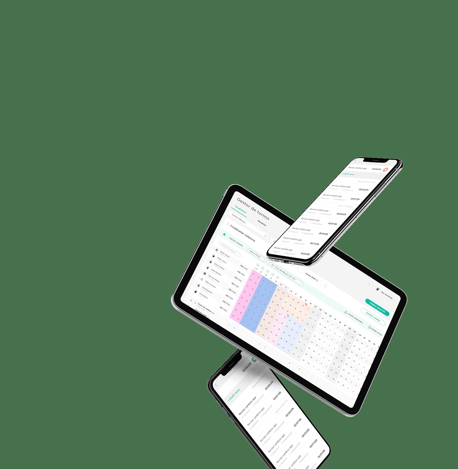 Control de turnos y cuadrantes
