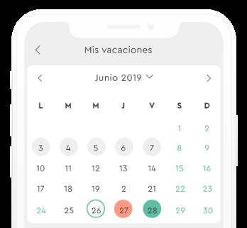 Solicitar vacaciones desde el celular