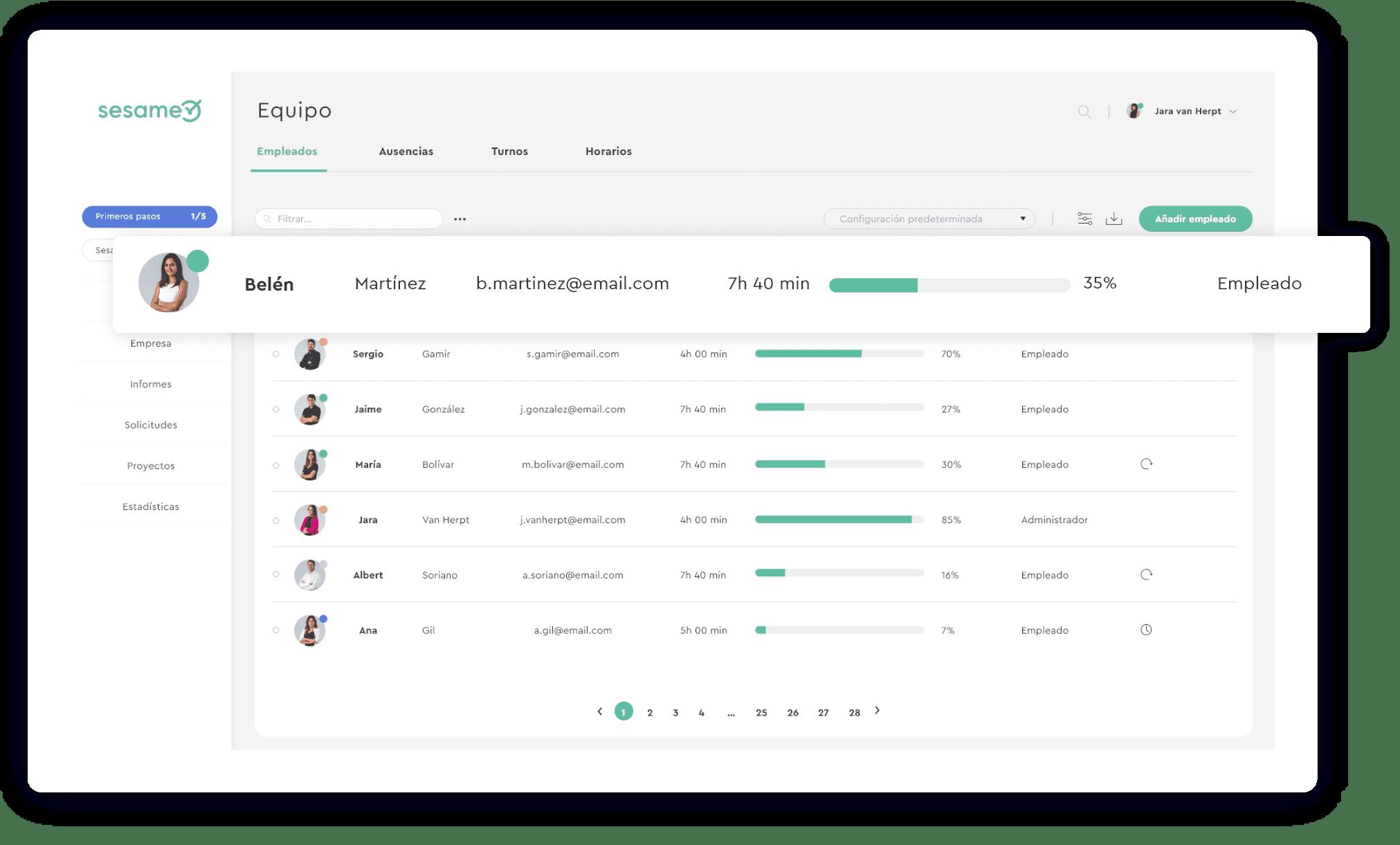 Tracking de tareas y roles de manager