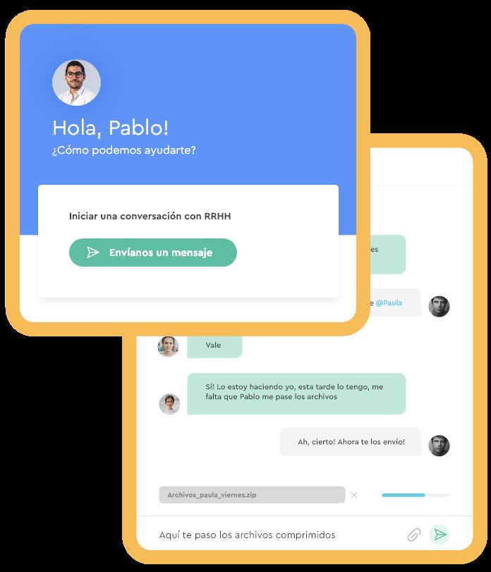 Chat Software de gestión de personal