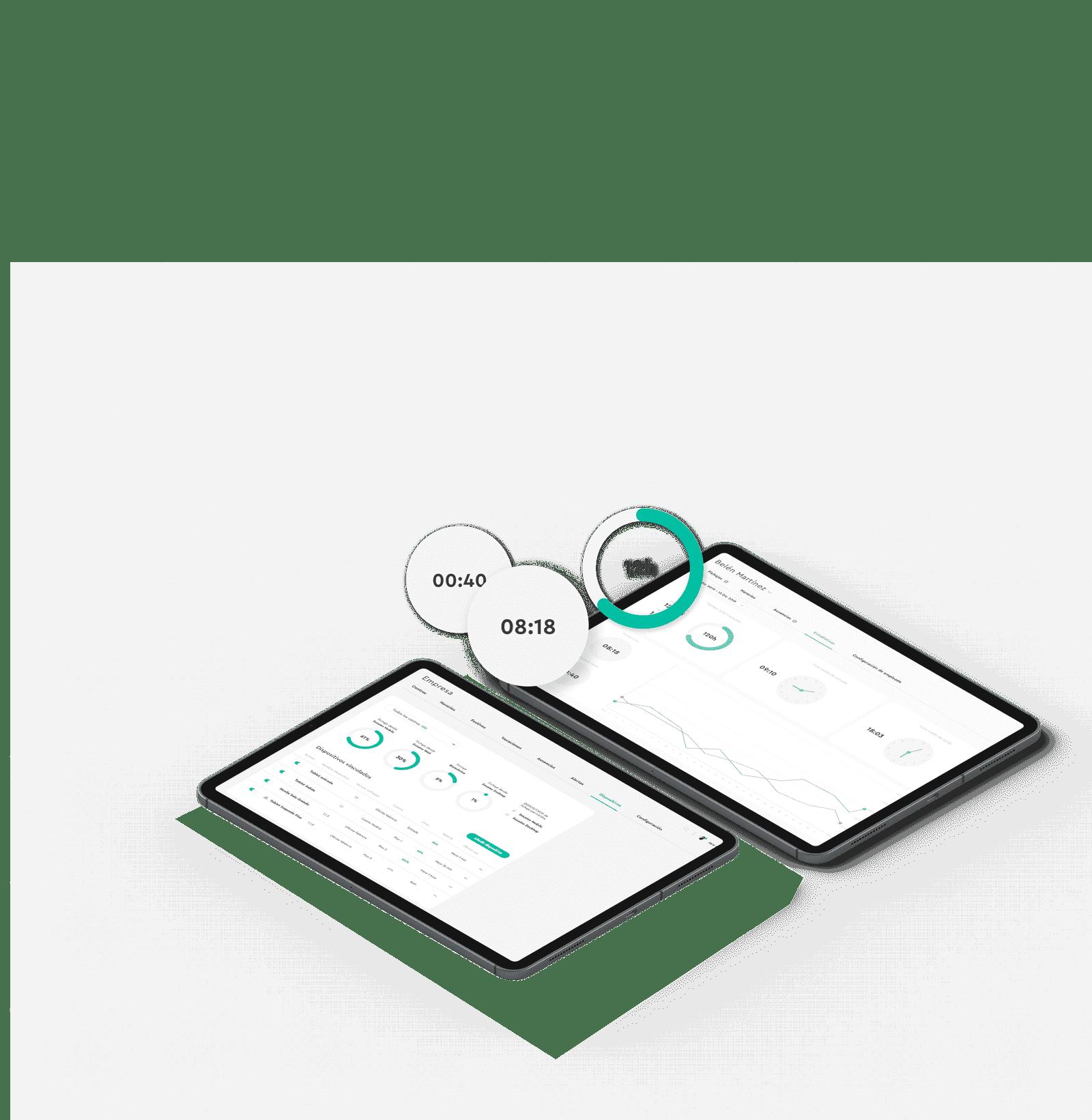Reportes de la aplicación de Sesame