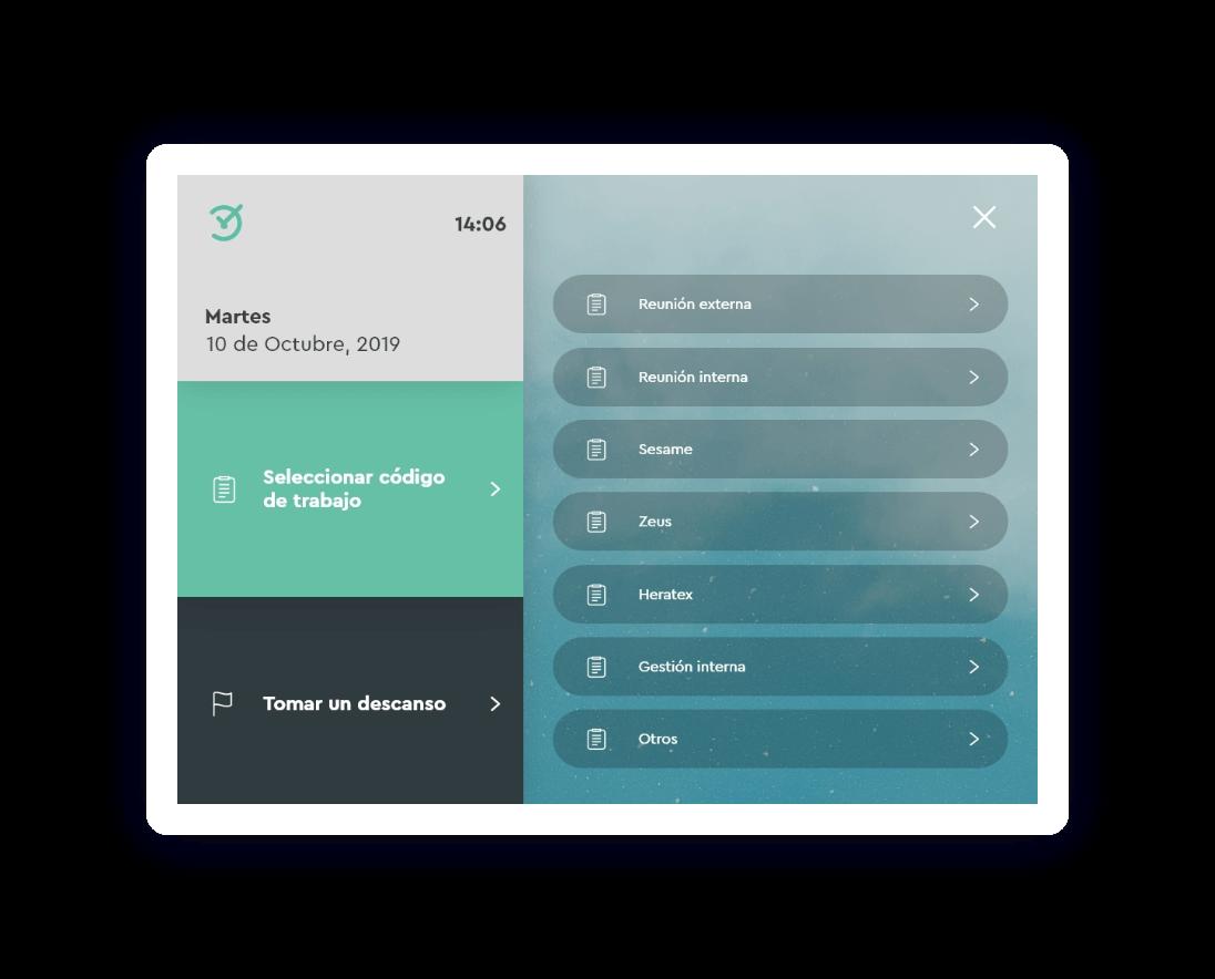 Tablet para checar con código en el trabajo