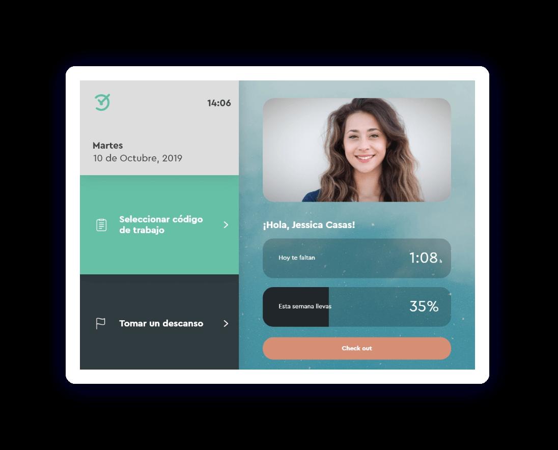 Tablet para registrar el horario laboral