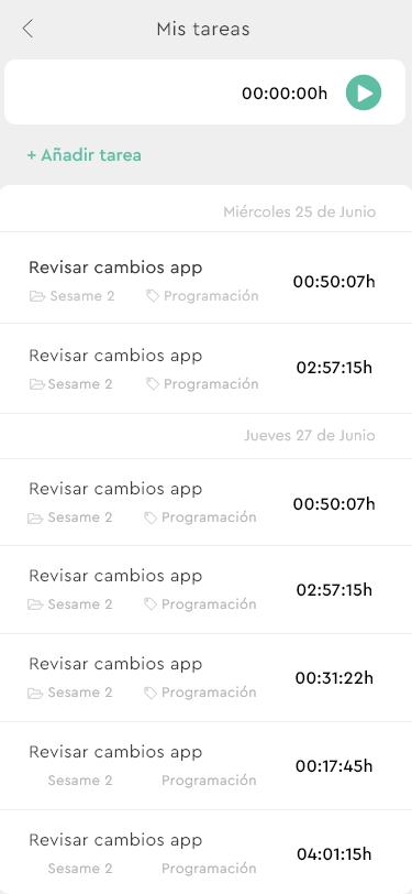 Sesame App Tareas